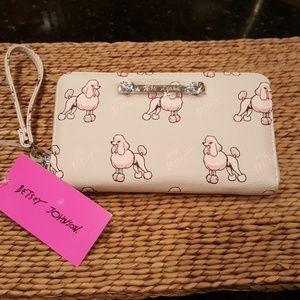 Betsey Johnson Poodle Wallet Wristlet